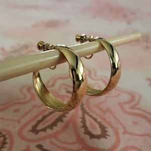 Vintage Gold Hoop Earrings